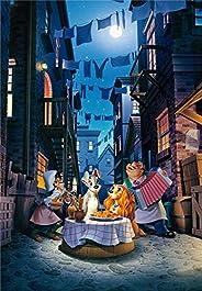 1000ピース ジグソーパズル ディズニー わんわん物語 ムーンライト ディナー 【光るパズル】 (51x73.5cm)