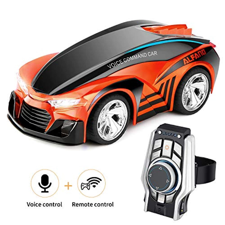 SHIJIEBEI 2018 アップグレード リモートコントロールカー 充電式 おもちゃ ボイスコントロールカー コマンド スマートウォッチ作 クリエイティブな音声で動く車 子供用 丈夫で操作が簡単 オレンジ SJ-YKC-06-0810