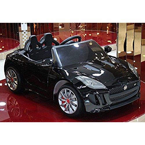 電動乗用 子供用ラグジュアリーカー キッズ ベビー おもちゃ トイ ジャガー Fタイプ ブラック ライト点灯OK プロポコントローラー付属 12V