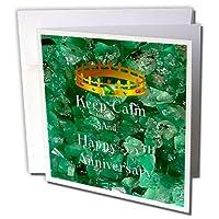 フローレンKeep Calm Anniversaries–イメージのKeep Calm and Happy 55th Anniversary With Crown–グリーティングカード Individual Greeting Card