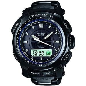 [カシオ]CASIO 腕時計 PROTREK プロトレック BLACK TITAN LIMITED TOUGH MVT タフソーラー 電波時計 MULTIBAND 6 PRW-5100YT-1JF メンズ