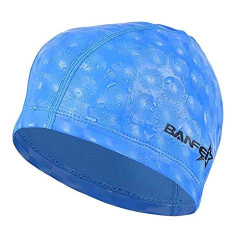 水泳キャップ 水泳帽 スイムキャップ 防水 スイミングキャップ PU塗装 水泳専門 伸縮性良い 男女適用