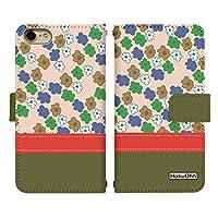 Carine iPhone 6s Plus ケース 手帳型 プリント 手帳 di404 (B) カード収納