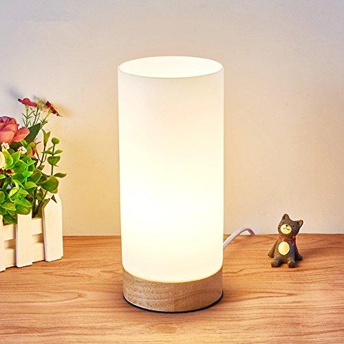 Tengis 間接照明 リモコン ベッドサイドランプ LED デスクライト LED電球付き 調色調光可能 目に優しい 省エネ 寝室用 和風 (高円柱形)