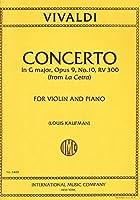 """VIVALDI - Concierto en Sol Mayor (RV300) Op.9 nコ 10 """"La Cetra"""" para Violin y Piano (Kaufman)"""