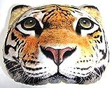【560kick】 虎 Tiger リアル 顔 クッション 座布団 中綿付