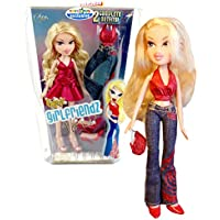 MGA Entertainment Bratz Girlfriendz Nite Out Exclusive Series 25cm Doll - CLOE in Red Dress with Earrings and Purse Plus Additional Pair of Shoes, Tops, Blue Denim Pants and Hairbrush