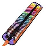 BestMind 油性色鉛筆 72色 収納ケース付き 色鉛筆 塗り絵 描き用 鉛筆削り付き 絵の具 携帯便利 プレゼント用