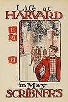 スクリブナー–Life at HarvardヴィンテージポスターUSA C。1897 24 x 36 Giclee Print LANT-63155-24x36
