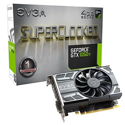 EVGA GeForce GTX 1050 Ti SC GAMING, 4GB GDDR5, DX12 OSD Support (PXOC) (04G-P4-6253-KR) グラフィックボード [並行輸入品]