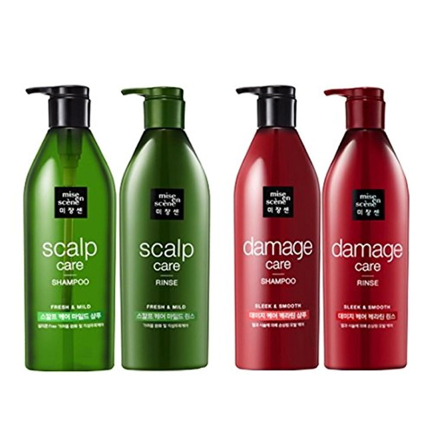 強風あいまいさ前置詞[ミジャンセ ] Miseen Scene [アモーレパシフィック?ミジャンセン]スカルプケア?シャンプー680ml +リンス680ml [Scalp Care Shampoo Rinse Set] & ダメージケア シャンプー...