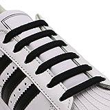 Hitstar 靴紐 結ばない ゴム 靴ひも シリコン シューレース 伸縮性 ほどけない スニーカー紐 黒 白 グレー 青 ブラウン