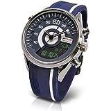 [フランテンプス]Franc Temps 腕時計 レーシング デジアナ表示 (ネイビー) 10気圧防水 FTRC-NV メンズ