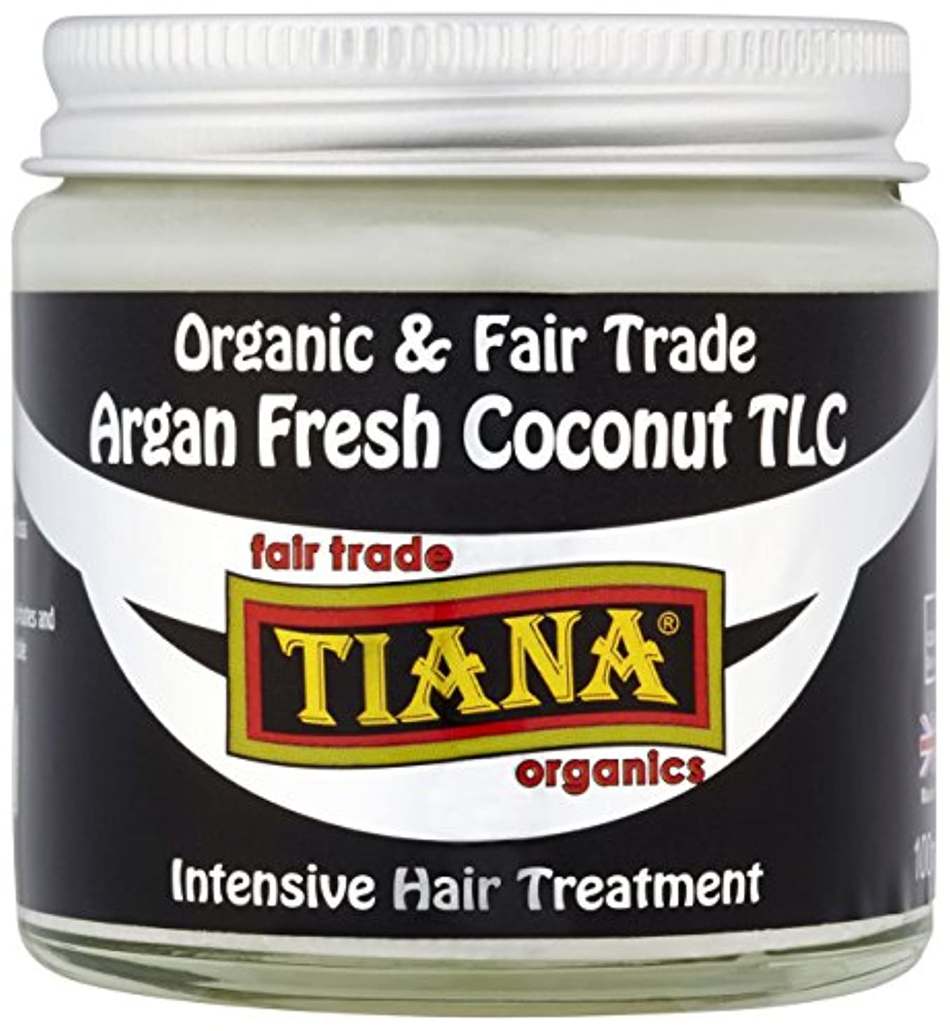 東方選出する未使用Tiana Organic Argan Coconut Intensive Hair Treatment 100ml