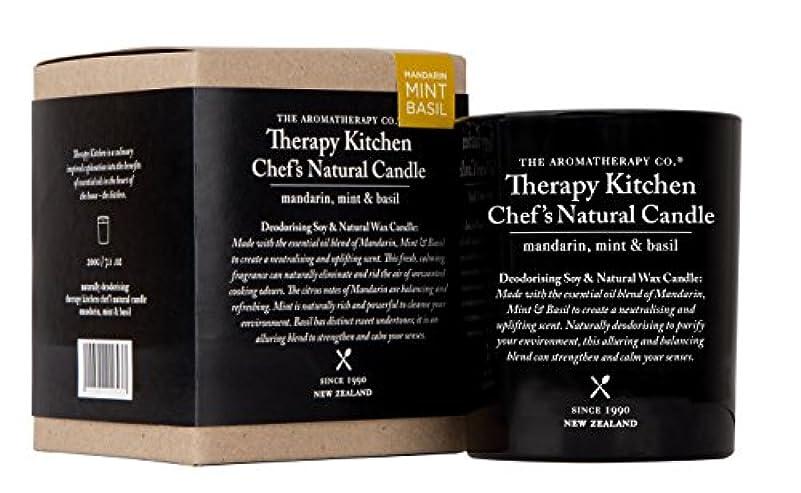 肯定的登る薄暗いTherapy Kitchen セラピーキッチン Natural Chef`s Candle マンダリン?ミント&バジル