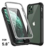 【iphone 11 pro対応】Temdan iphone 11 pro 5.8インチ ケース カバー 耐衝撃max Qi充電対応 フェイスID認証対応 軽量 薄型 衝撃吸収 操作便利 脱着簡単 アウトドア スポーツ 安心感アイフォン iphone 11 pro カバー(5.8インチ)
