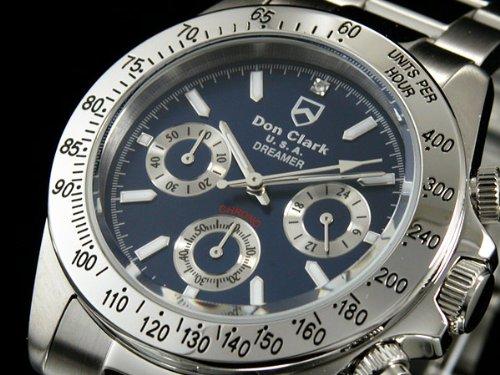 腕時計 天然ダイヤ クロノグラフ DM-2051-04 メンズ ダンクラーク