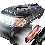 MOREZONE 自転車 ライト 400ルーメン LED USB充電式 IPX65 防水仕様 テールライト付 懐中電灯