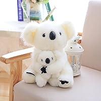 tokutoyリアルシリーズ かわいい 抱き枕 プレゼント お祝い ふわふわ 縫い包み 親子 誕生日 ホワイト コアラ 25cm