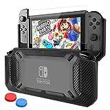 Kodi Nintendo Switch カバー ニンテンドー スイッチ ケース 任天堂 ガラス フィルム シート 親指キャップ TPU+PC製 - Best Reviews Guide