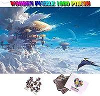 YYDXDB 1000ピースの木製パズル-幻想の城の美しい大人1000ピースの木製ジグソーパズルカスタマイズされたパーソナリティ幻想的な風景のパズルのおもちゃ-75 * 50 cm