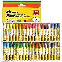 水でおとせるふとくれよん 無毒 安全 子供/学生用のクレヨン?オイルパステル?描きの色鉛筆?クレパス、36色