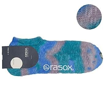 (ラソックス) rasox ショートソックス / タイダイロウ マリンミックス(430) Lサイズ(26-28cm)