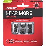 Comply(コンプライ) T-200 ブラック SML各1ペア入り 3ペア スタンダード イヤホンチップス Isolation Sony WF-SP700N, WF-1000X, MDR-XB, B&O Play, MEE Audio, Phillips SHE9720他 イヤホンをアップグレード 高音質 遮音性 フィット感 脱落防止イヤーピース 「国内正規品」HC17-20200-04