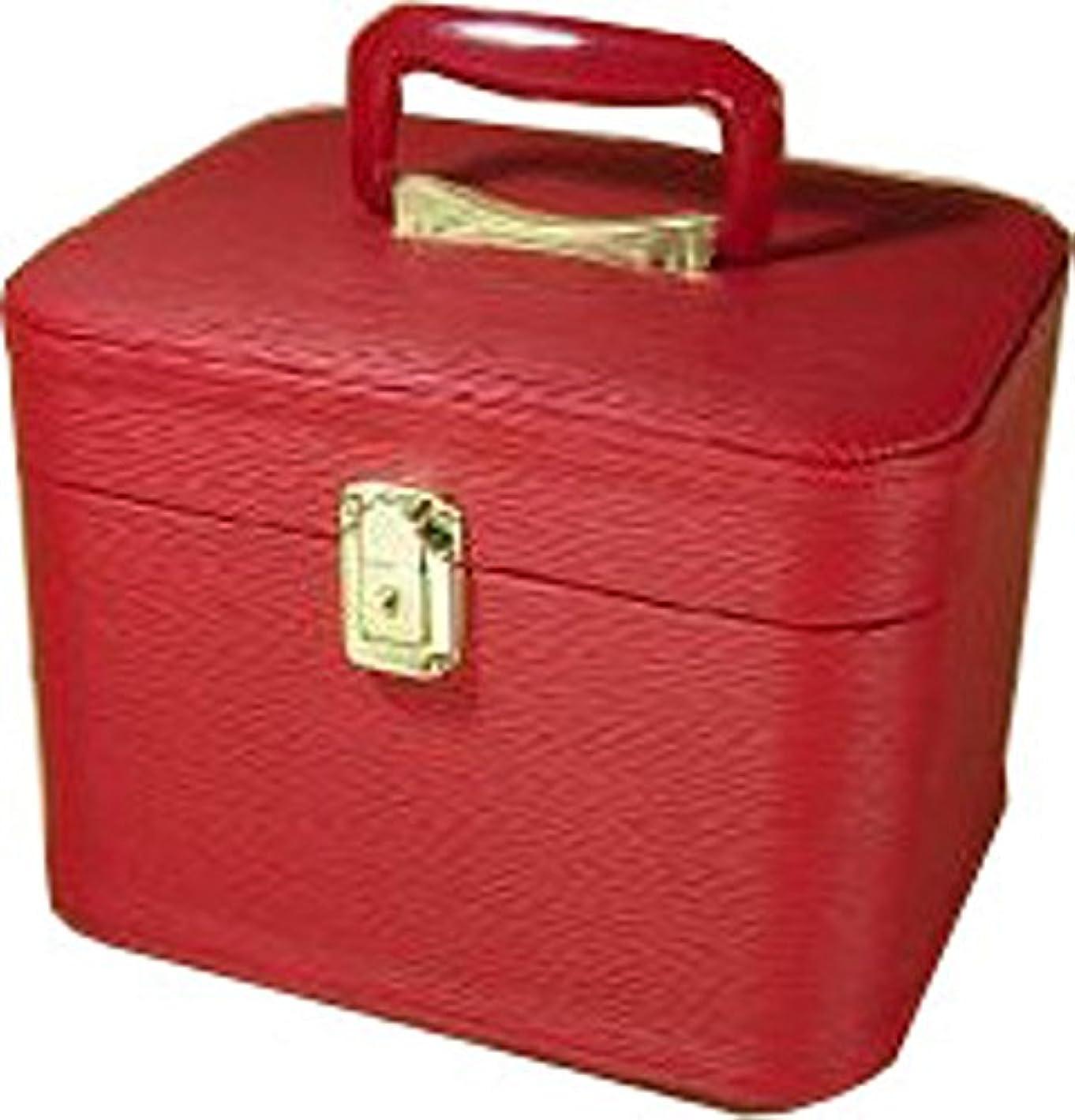 晩餐一口ジャケット水シボ26cmヨコレッドお化粧入れ メイクボックス,メイクケース,トレンチケース,化粧箱