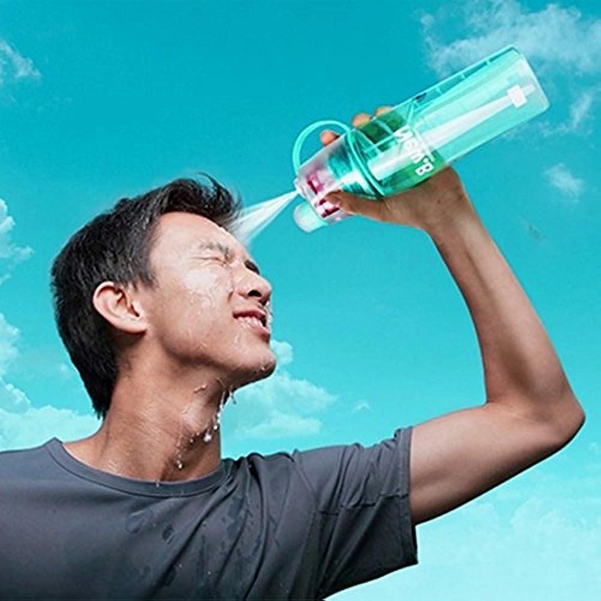 研究所不愉快グローブハイキング用の?水ボトル スポーツ?水ボトル スプレーストロー付き 屋外活動 透明 ポータブル