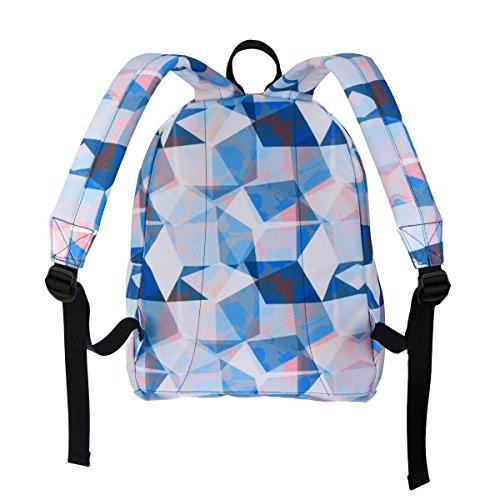 MIXI(ミシ)双肩バッグ 中学生 高校生 通学 旅行 ファッション 多機能 PCバッグ 防水 男女兼用 (L, ダイヤブルー)