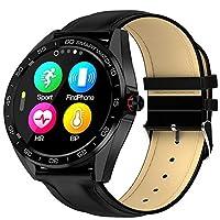 Bluetoothスマートウォッチ、IP68防水心拍数モニターフィットネスアクティビティトラッカー、血圧モニター歩数計音楽コントロールコールSMSプッシュAndroidおよびIOS電話用
