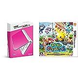 「Newニンテンドー3DS LL ピンク×ホワイト + みんなのポケモンスクランブル セット」の画像