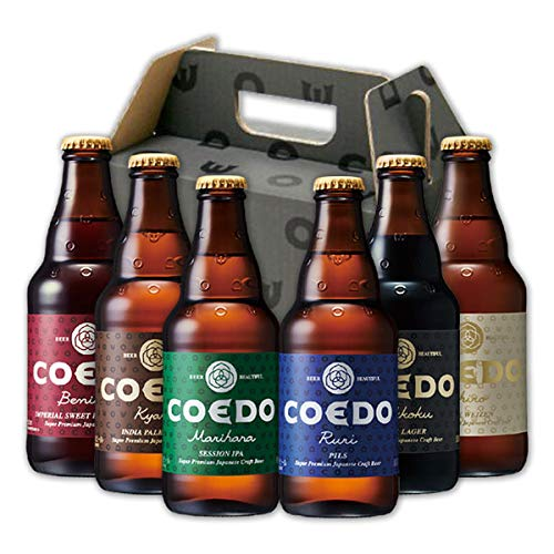 COEDO コエドビール 333ml × 6本 飲み比べセット (伽羅2:瑠璃1:紅赤1:白1:漆黒1)
