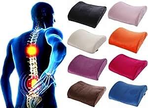 [ケンコバハンズ]低反発 ランバーサポートクッション 腰痛クッション 腰まくら 腰枕 腰痛 クッション 腰痛対策 ランバーサポート旅行枕 (オレンジ)