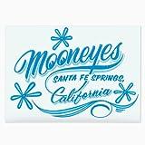 MOONEYES ムーンアイズ ピンストライプステッカー 転写式 MOONEYES California Pinstripe Sticker ブルー DM-173