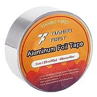 """多目的アルミ箔テープ、シルバー、3.2Mil、1.88"""" X 50ヤード( 2パック) 1 pack"""