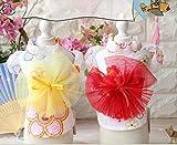 犬の服 可愛い犬浴衣 春夏用 軽い薄手のドッグウェア 花火大会やお祭りの着物 Sサイズ~XLサイズ (M, レッド)