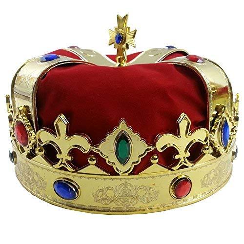 Beito 王冠 キングアーサー コスチューム用小物 ゴールド 男女共用 フリーサイズ