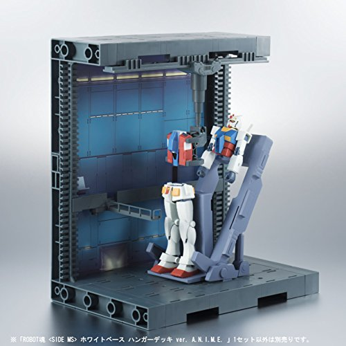 ROBOT魂 機動戦士ガンダム [SIDE MS] ホワイトベース ハンガーデッキ ver. A.N.I.M.E.. 全高約250mm/全幅約220mm ABS製 塗装済み可動フィギュア
