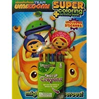 Team Umizoomi Bundle-C- 144pg Coloring and Activity Book with Stickers. Plus One Pack of Twist-Up Crayons by Nickelodeon [並行輸入品]