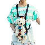 (フィーショー)FEESHOW 虹色 ペット 抱っこバック マルチカラー おんぶ紐 ペットキャリー 中型 小型 犬 用 2WAY 抱っこ リュック スリング バッグ  4サイズ (S)