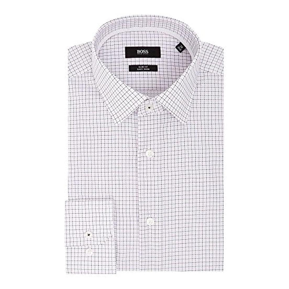 拾うパブライオン(ヒューゴ ボス) Hugo Boss メンズ トップス シャツ Jesse Slim Fit Multi Grid Texture Shirt [並行輸入品]