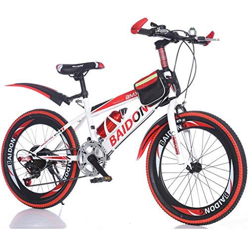 子供用自転車20インチの小学生6~10歳の男の子の女の子可変...