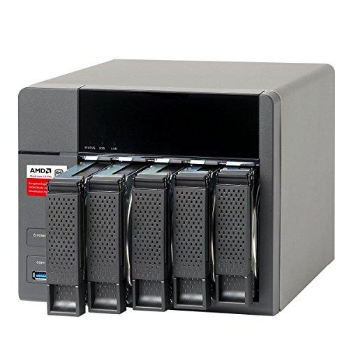QNAP TS-563-2G 5-Bay AMD 64bit x86-based NAS Quad Core 2.0GHz 2GB RAM 2 x 1GbE 10G-ready [並行輸入品]