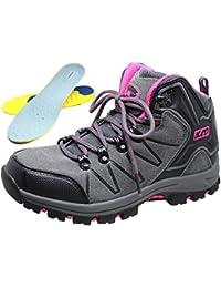 Cheers 衝撃吸収 インソール 付き トレッキングシューズ 男女兼用 滑りにくい ハイカット 登山靴