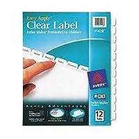 Avery :インデックスメーカークリアラベルPunchedディバイダー、12-tab、文字、ホワイトの2パックとして販売–: -–12–/–Total of 24各