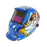Neiko 53933A Auto-Darkening and Solar Power Welding Helmet for TIG/MIG - American Eagle by Neiko
