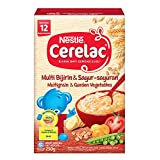 Nestlé Cerelac Baby Food, Multi Grain and Garden Vegetables, 250g