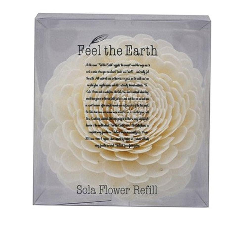 証人テザースポンジFEEL THE EARTH ソラフラワー リフィル ダリア DAHLIA フィール ジ アース
